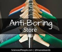 Anti-boring store